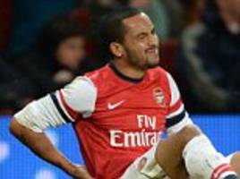 arsenal likely to leave theo walcott out of us tour squad for match with thierry henry's new york red bulls