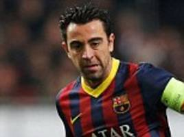 xavi could join frank lampard at new york city if he negotiates payoff with barcelona