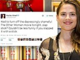 hayley atwell calls the other woman a depressingly shameful film on twitter