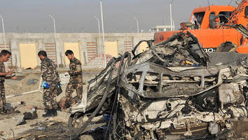 Suicide bomb outside Kabul airport kills 4 including 3 foreigners