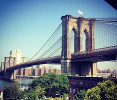 Mysterious White Flags Fly Above the Brooklyn Bridge